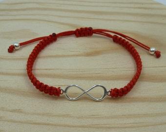 Infinity Macramé Bracelet ? Sterling Silver