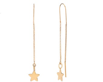 Star Long Earrings Golden Bath