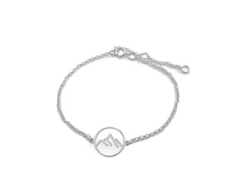 Wristband between the   Mountain Ssread Silver