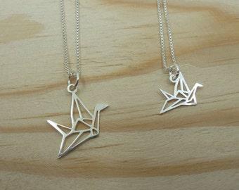 Origami Crane Pendant ? Sterling Silver
