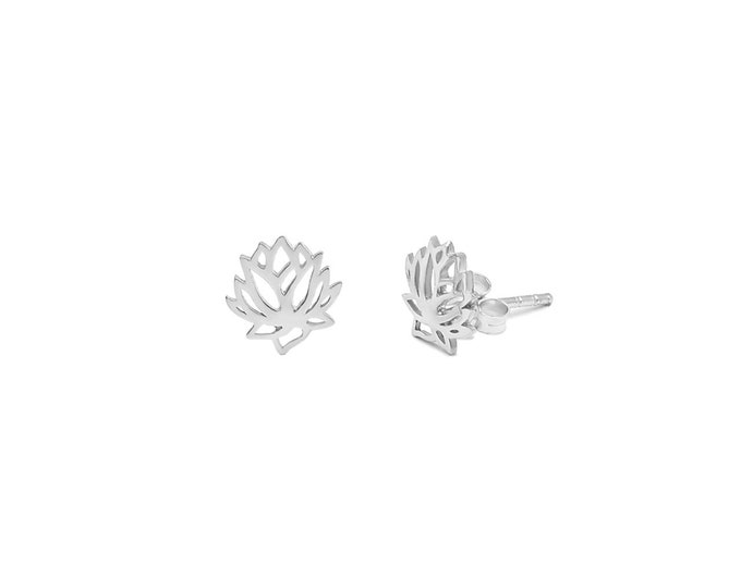 Lotus Blossom Earrings Sterling Silver