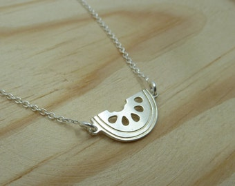 Watermelon Pendant with Sterling Silver chain