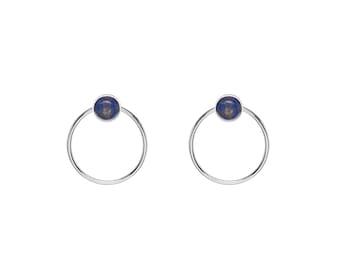 Aura Lapis lazuli earrings | brass