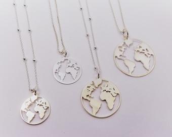 World Pendant ? Sterling Silver