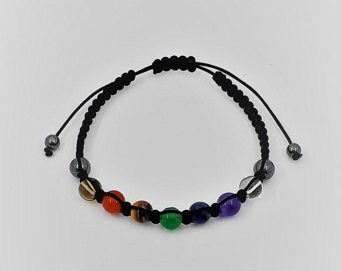Featured listing image: Macramé Chakras bracelet