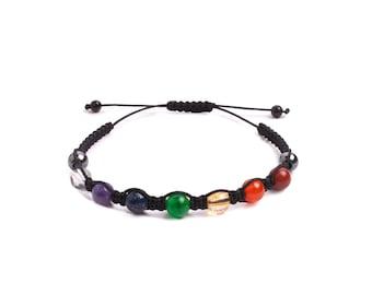 Macrame Chakras Bracelet