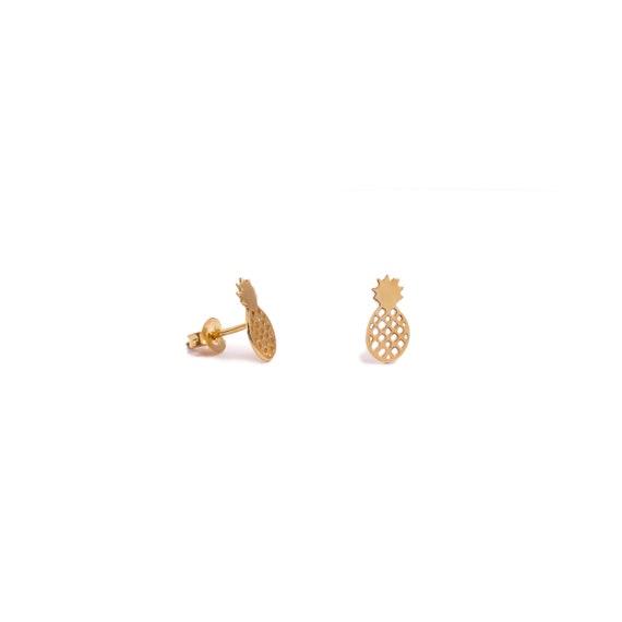 Pineapple Earrings | Gold Bath
