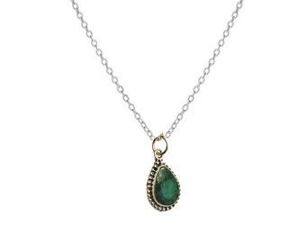 Emerald Shalimar Necklace | Ssread Silver