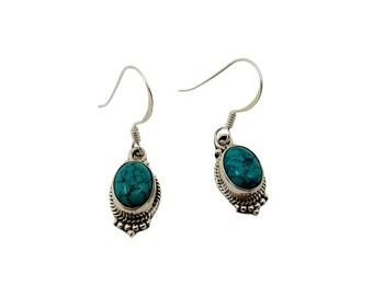 Neela Turquoise earrings | Ssread Silver