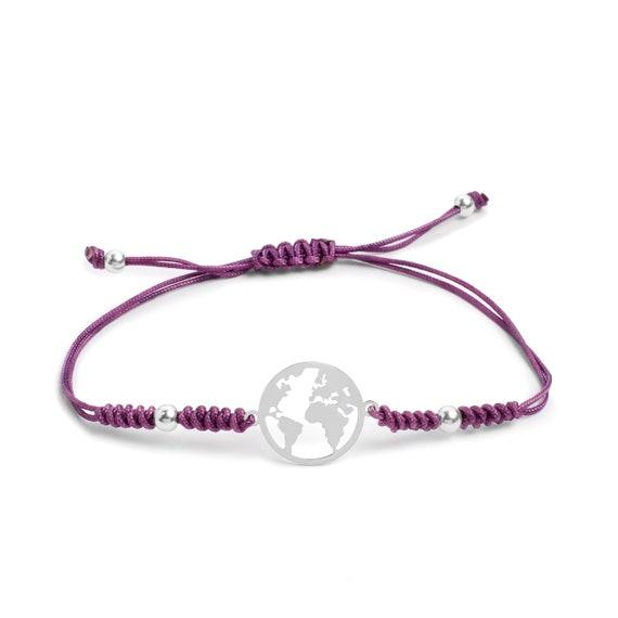 Snake Knot World Bracelet Sterling Silver