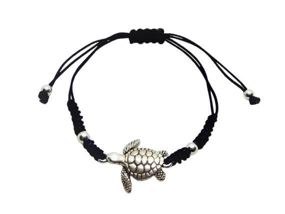 Turtle Solidarity Bracelet ? Zamak and macramé