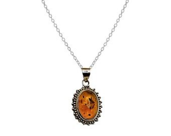 Elina Amber necklace | Ssread Silver