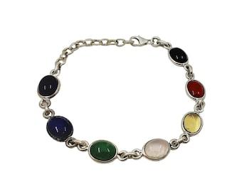Chakras bracelet   Ssread Silver