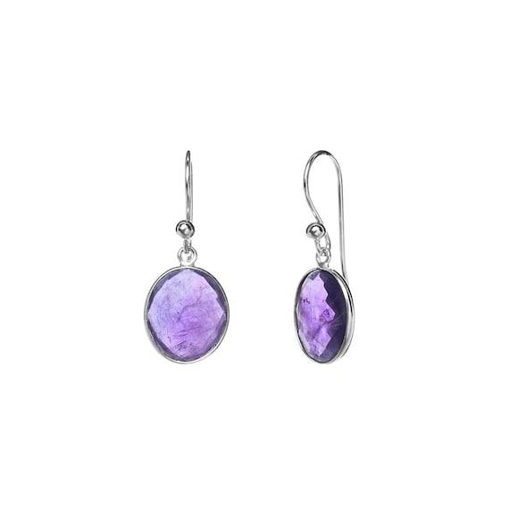 Arya Amethyst Earrings Sterling Silver