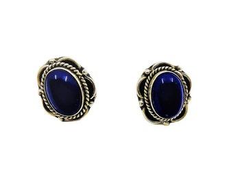Earrings Anjali Lapis lazuli | Ssread Silver