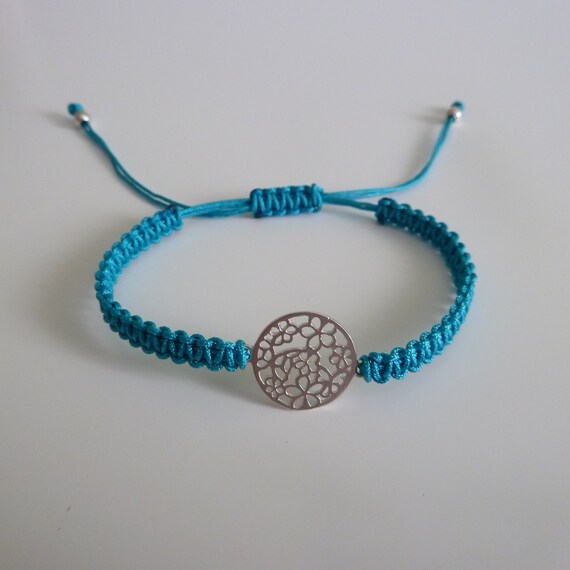 Tuscan Macrame Bracelet Sterling Silver