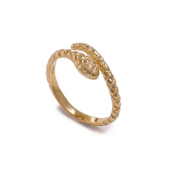 Adjustable Snake Ring | Golden Bath