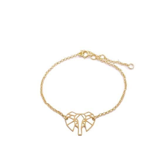 Origami Elephant Shingling Bracelet | Gold Bath