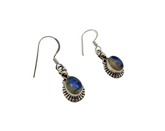 Earrings Ayanti Piedra Luna | Ssread Silver