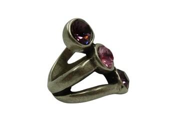 Triple iris ring | Zamak and Swarovski