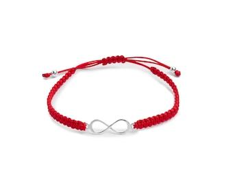 Infinite Macrame Bracelet ? Sterling Silver