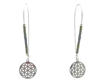 Flower of Life Earrings | Ssread Silver