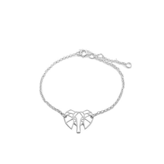 Origami Elephant Shingling Bracelet | Ssread Silver