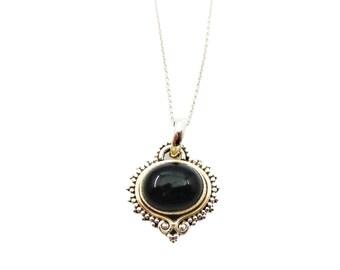 Alisha Onyx necklace | Ssread Silver