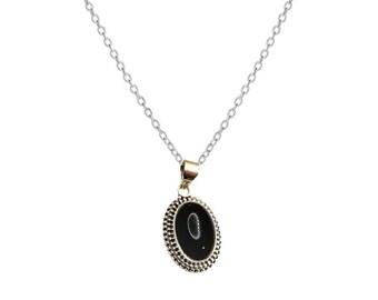 Yamuna Onyx necklace | Ssread Silver