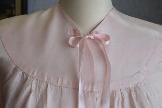 40s M Rayon Acetate Bed Jacket Powder Pink - image 3