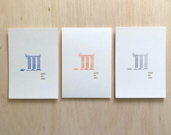 attitude Letterpress Simple word simple card series