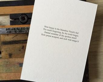 Letterpress typeset print - eternal sunshine of the spotless mind 2/3