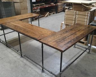 l shaped desk etsy rh etsy com rustic l shaped computer desk rustic l shaped desk with hutch