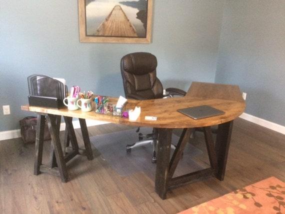 Bureau chevalet en forme de l en u table bureau coin etsy