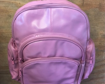 Lilac Wilsons Leather All Leather Backpack Laptop Bag