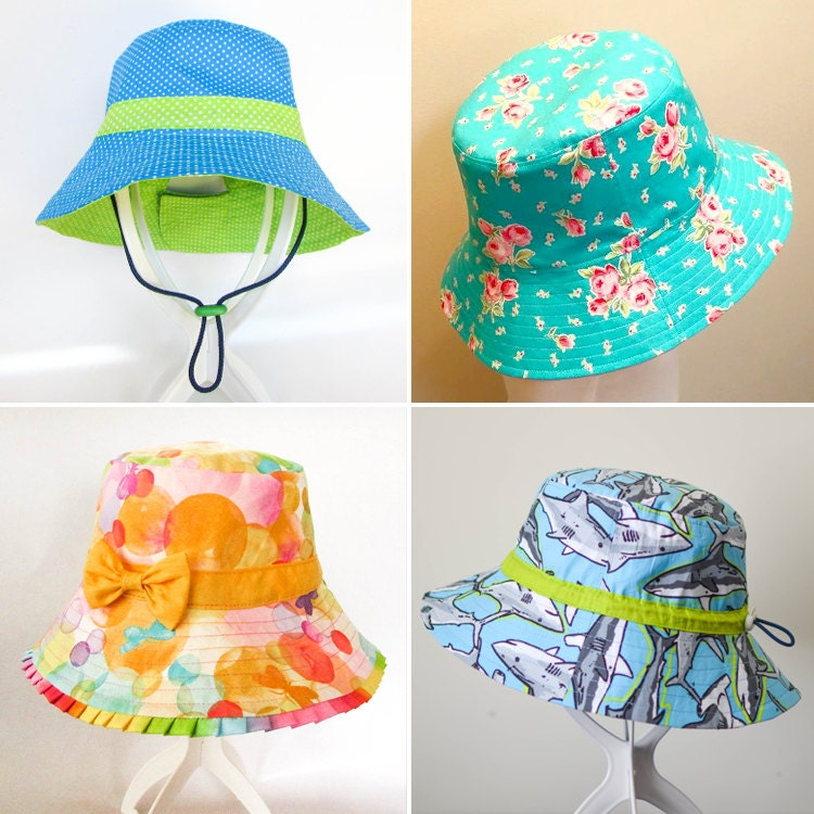 ULTIMATE BUCKET HAT Pattern Newborn to Adult. Brims short  ec7e9645e0e