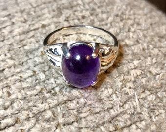 Sterling Silver Purple Amethyst Ring