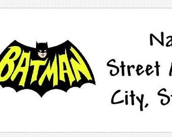 30 Batman Personalized Address Labels