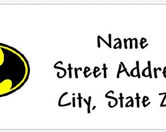 Batman Personalized Return Address Labels Buy 3 Get 1 Free