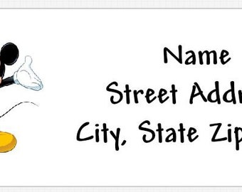 Mickey Mouse Personalized Return Address Labels Buy 3 Get 1 Free