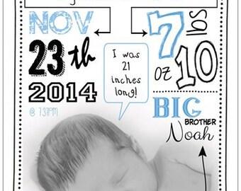 Custom Baby Announcement