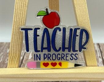 Glitter Teacher in Progress Badge Reel | Glitter Student Teacher Badge Reel | Student Teacher Badge Reel | Teacher Badge Reel | Badge Reel