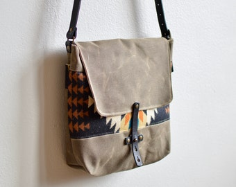 fe04daf9ab Crossbody Bag Made with Pendleton® Wool   Purse Made with Pendleton® Wool   Canvas Crossbody Bag  Women s Purse Canvas and Leather Bag
