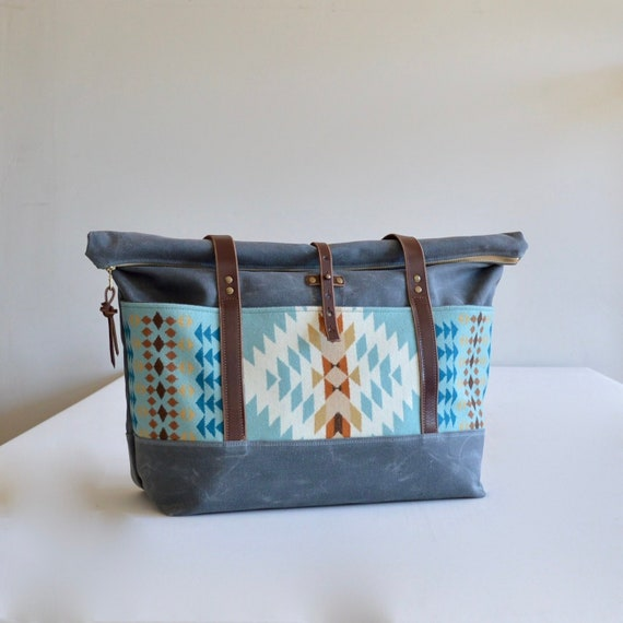 690fab534073 Waxed Canvas Weekender Bag Made with Pendleton® Fabric