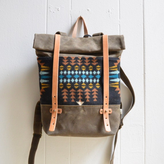 4b6bd002ed Backpack In Pendleton® Fabric   Waxed Canvas Backpack  Canvas