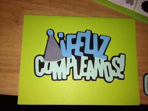 items similar to spanish happy birthday card  feliz