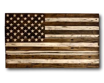 791729913dd6 Wood American Flag - Rustic Home Decor - Reclaimed Wood Flag - Patriotic  Americana Decor