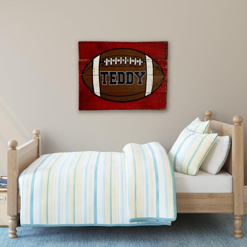 Football Wall Art Football Nursery Decor Boy Name Sign | Etsy