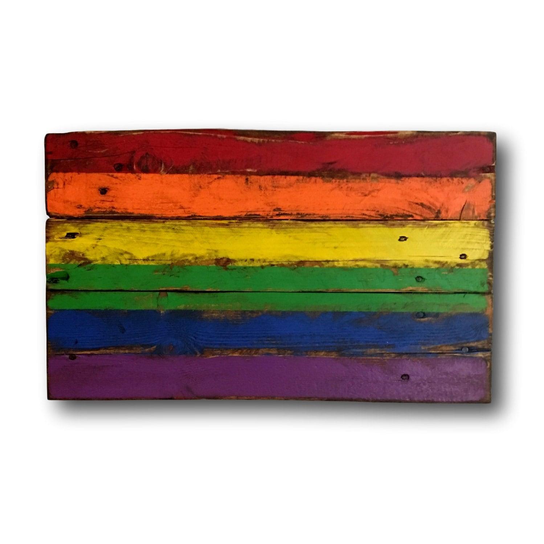 9e5ac0d0fcc4 Wood Pride Flag   Gay Pride Flag   LGBT Flag   Pallet Pride