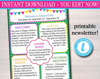 newsletter template etsy